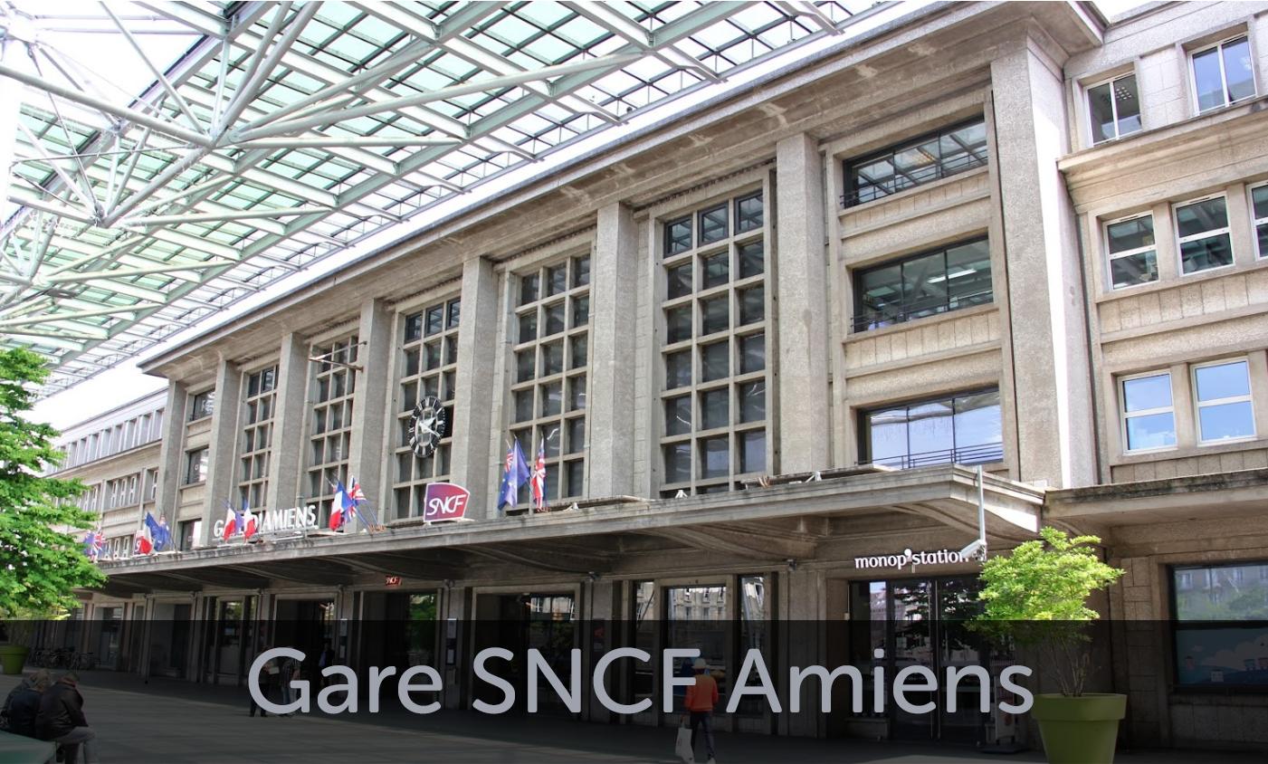 Façade Gare SNCF Amiens