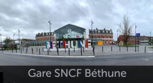Façade Gare SNCF Béthune