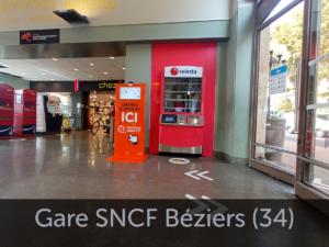 Borne en Gare SNCF Béziers